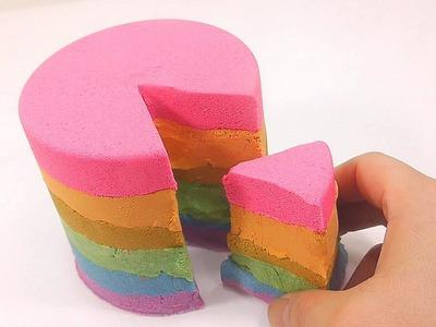 How To Make Rainbow Colors Kinetic Sand Cake DIY | Kinder Surprise | Twinkle Twinkle Little Star