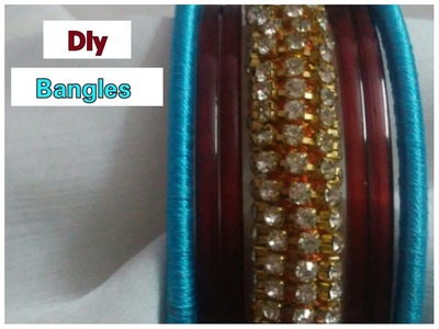 How to make stone bangles at home.silk thread bangles
