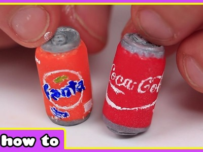 How To Make World's Smallest Coke and Fanta Cans - DIY Miniature Soda Bottles - HooplaKidz How To