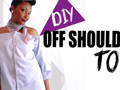 How To Turn Mens Dress Shirt to Off Shoulder Top or Dress | BlueprintDIY