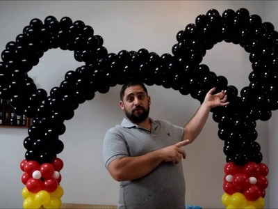Mickey mouse balloon  arch tutorial  no helium required DIY how to video