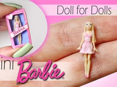 Miniature Barbie Tutorial. DIY Dolls.Dollhouse