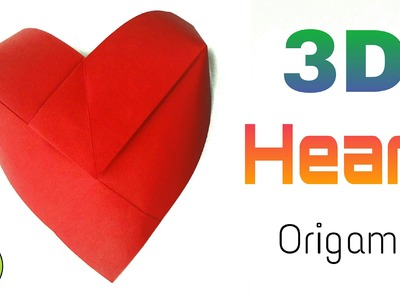 "Origami Tutorial to make ""3D Heart ♥"" - DIY 