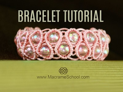 Pearls in Waves - Snaky Bracelet Tutorial in Vintage Style | DIY