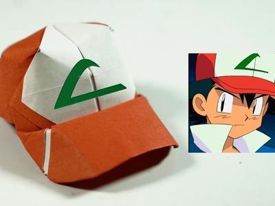 POKEMON - Origami Ash Ketchum Hat tutorial - DIY (Henry Phạm)