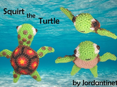 Sea Turtle Loomigurumi Amigurumi Part 2 Rainbow Loom Band Crochet Hook Only Squirt Finding Nemo Dory