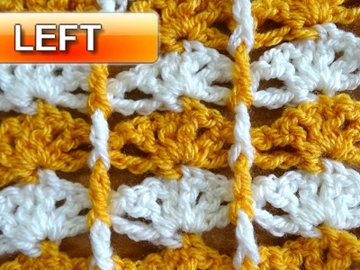 Shells with Borders - Left Handed Crochet Tutorial