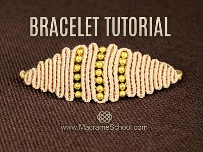 Snaky Rhomb or Eye Bracelet Tutorial in Vintage Style | DIY