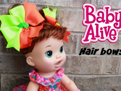 Split Pinwheel hair bow tutorial. DIY hairbows for BABY ALIVE