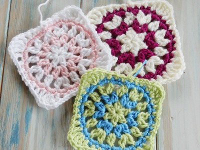 Starburst Granny Square - How to Crochet