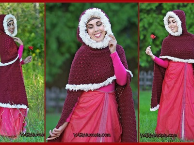 The Enchanted Rose Cape Crochet Tutorial