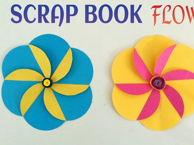 "Tutorial to make ""Flower for Scrap Book"" - Handmade 