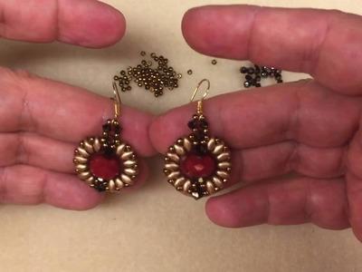 """Video Tutorial - DIY - Beaded Earrings """"Halo"""""""