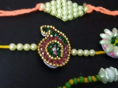 4 diffrent styles of rakhi making at home.how to make rakhi at home