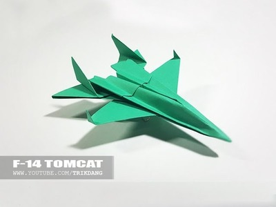 Best Paper Planes: How to make a paper airplane model for Kids | F-14 Tomcat