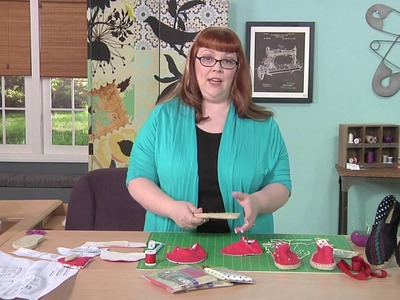 Cheryl Sleboda Demonstrates How To Make Your Own Espadrilles on It's Sew Easy (1102-1)