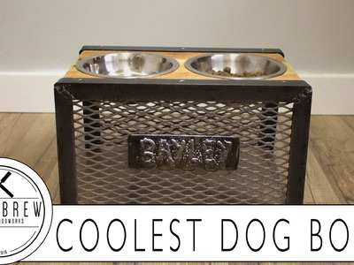 Coolest Raised Dog Bowl Holder. How To