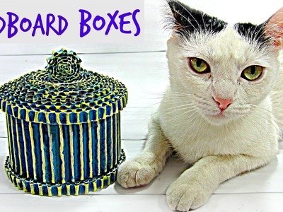 DIY How to make cardboard boxes.
