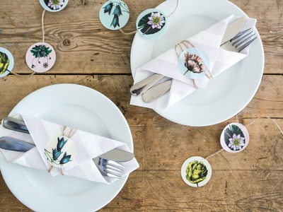 DIY: How to set a table with stickers by Søstrene Grene