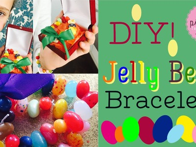 DIY Jelly Bean BRACELETS | Pink Pie Factory | Lara-Marie | How to make EDIBLE CANDY JEWELRY for Kids