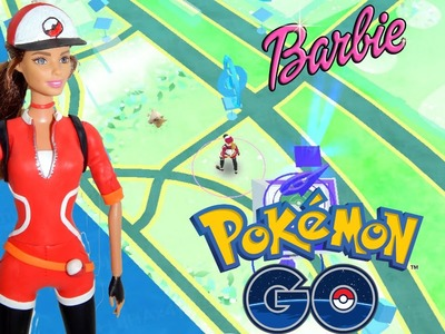 Dress up Barbie doll like Pokemon GO using play doh. how to make pokemon go custom character HD