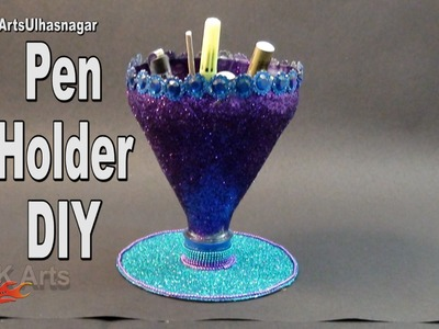 Easy Pen Stand with Waste bottle and DVD | How to make | JK Arts 998