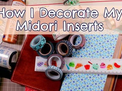 How I Decorate my MIDORI TRAVELER'S NOTEBOOK Inserts