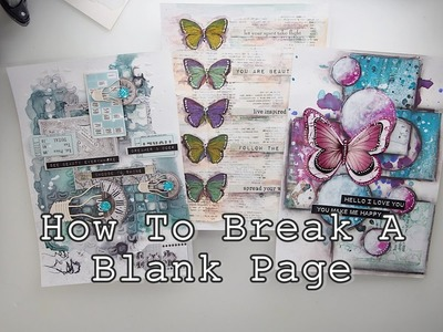 How to Break A Blank Page Mixed Media Art Journaling part4