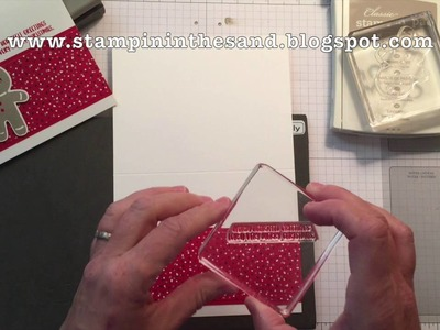How to create a Cookie Cutter Christmas Ginger Man Card using my One Sheet Wonder Template #1