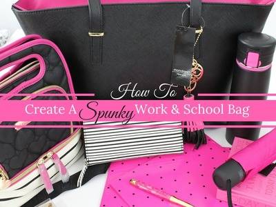 How To Create A Fabulous & Spunky Workbag and School bag | Massive Week Giveaway