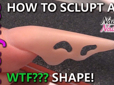 How to Create a Wavy Cutout Nail