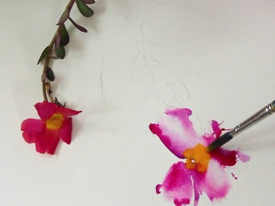 HOW TO CREATE FLUID WATERCOLOR FLOWERS