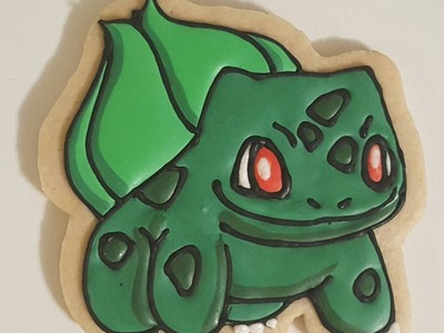 How to decorate a Pokemon GO Bulbasaur cookie