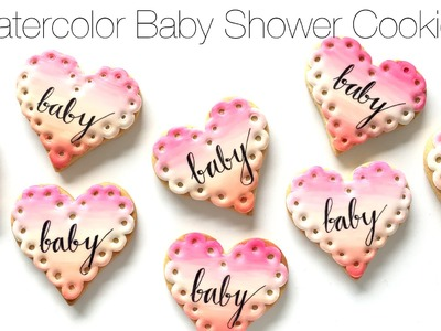 How To Decorate Watercolor Baby Shower Cookies!