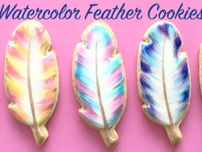 How To Decorate Watercolor Feather Cookies!
