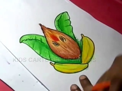 How to Draw Lord Ganesha Color Drawing for Kids Step by step