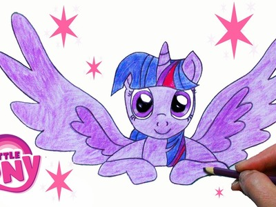 How to Draw My Little Pony TWILIGHT SPARKLE Princess Step By Step Equestria MLP | Toy Caboodle