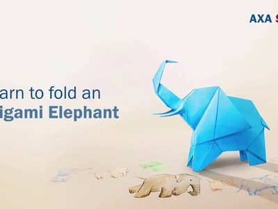 How to fold a AXA Origami Elephant