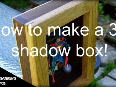 How to make a 3D Superman shadow box