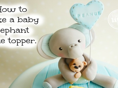 How to make a baby elephant cake topper