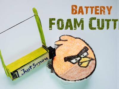 How to make a BATTERY PLASTIC FOAM CUTTER at home - Just 5 mins