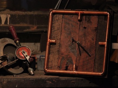 How To Make a clock with copper and Hardwood