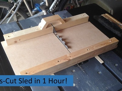 How To Make A Crosscut Sled in 1 Hour!