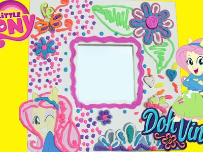 How to make a Doh Vinci Custom Mirror frame with My little Pony EquestriaGirls Fluttershy DIY