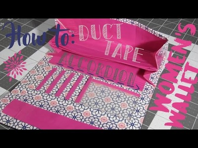 How to Make a Duct Tape Accordion Women's Wallet with a Coin Pouch! (Advanced)