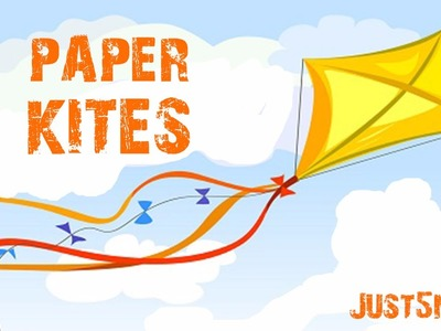 How to make a FLYING PAPER KITE at home Just5mins