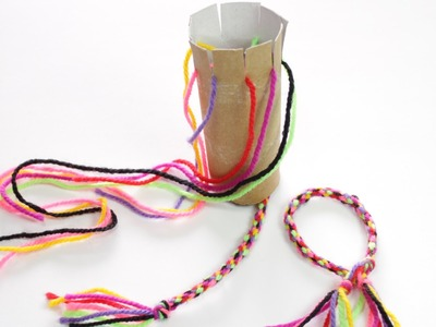 How to Make a Friendship Bracelet with a Toilet Roll Loom