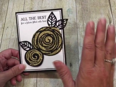 How to make a Glimmery Gold Swirly Bird Wedding Card!