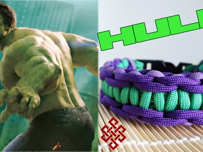 How to Make a Hulk Themed Rigid Solomon Paracord Bracelet Tutorial