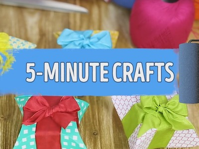 How to make a lovely gift box using a CD - By 5 minute CRAFTS